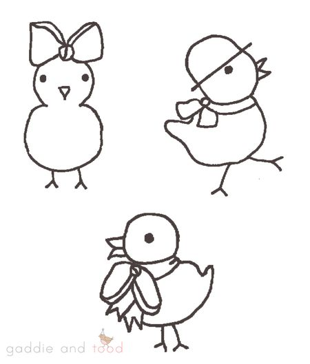 coloring pages of easter chicks. 2 Easter Coloring Pages