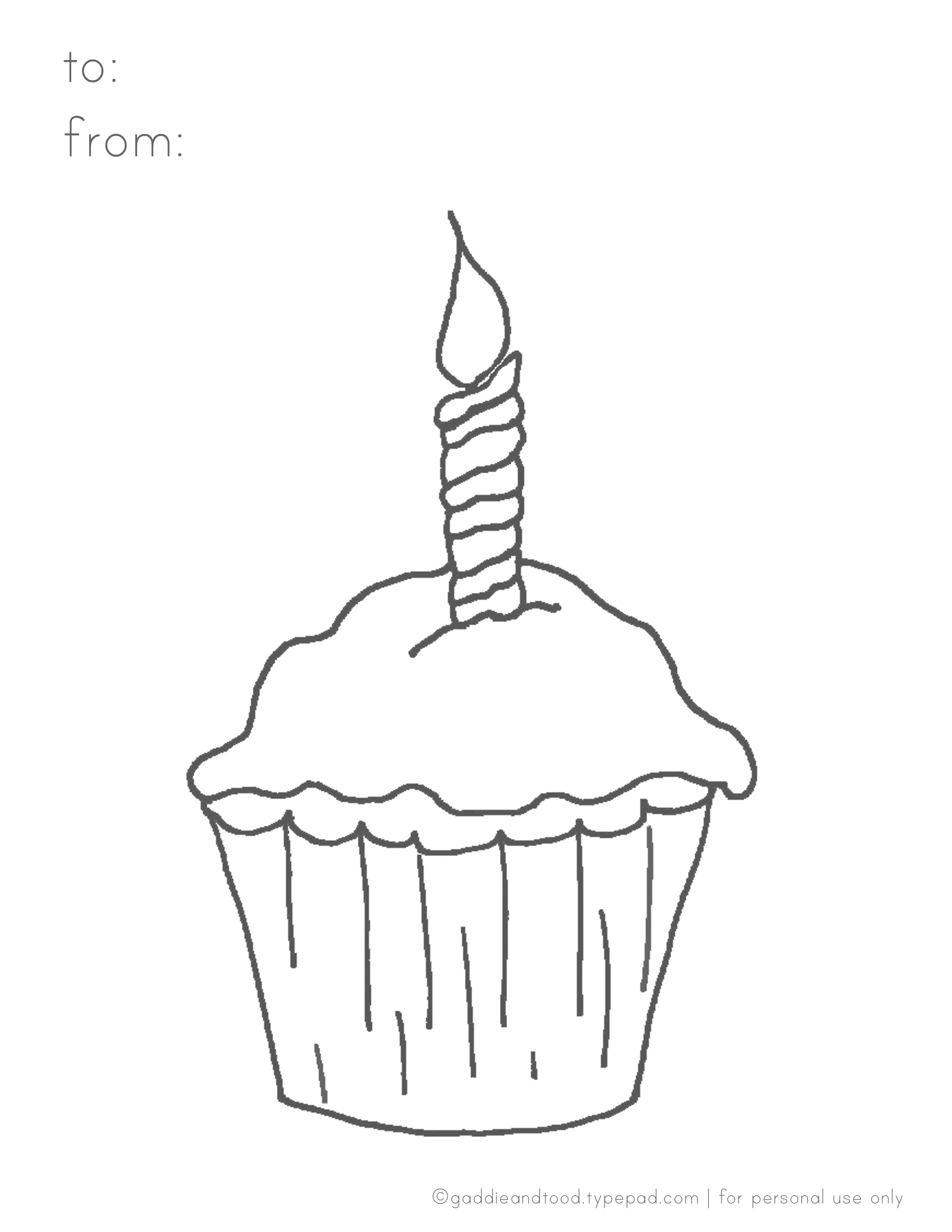 Printable coloring pages cupcakes - Cupcake Coloring Page Gaddie Tood Blog Printable Party Sketch Template Cupcake Candle Coloring Page